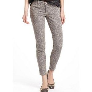 Level 99 Janice Ultra Skinny Gray Lace Jeans